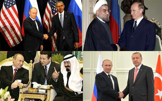 Putin, Obama, Rohani, Saud, Erdogan | seinsart